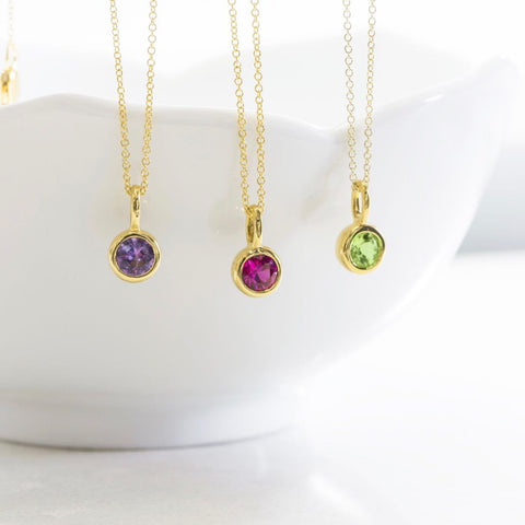 February Birthstone Necklace - Amethyst