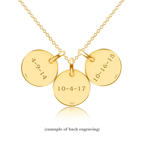 Image of 14k Gold Initial Necklace - 3 Circles - Lowercase