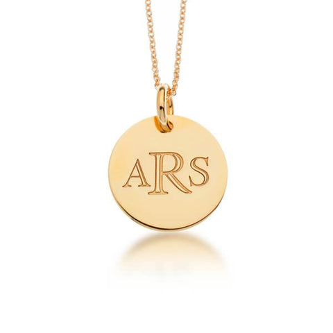 Gold Classic Monogram Circle - tinytags