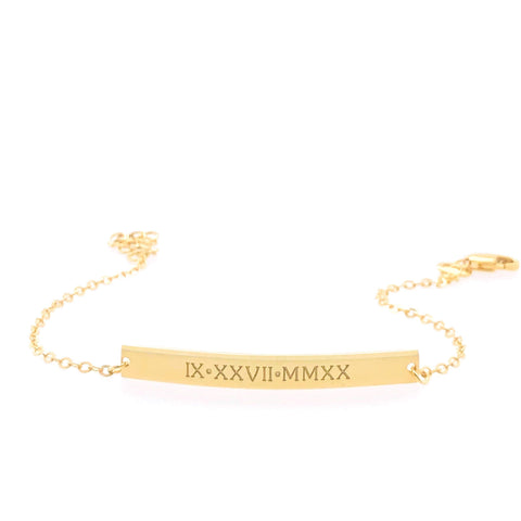 Image of 14k Gold Bar Bracelet