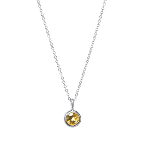 November Birthstone Necklace - Citrine