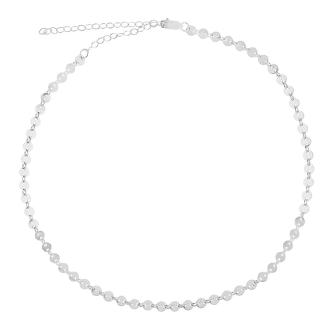 Image of Sterling Silver Coin Style Choker