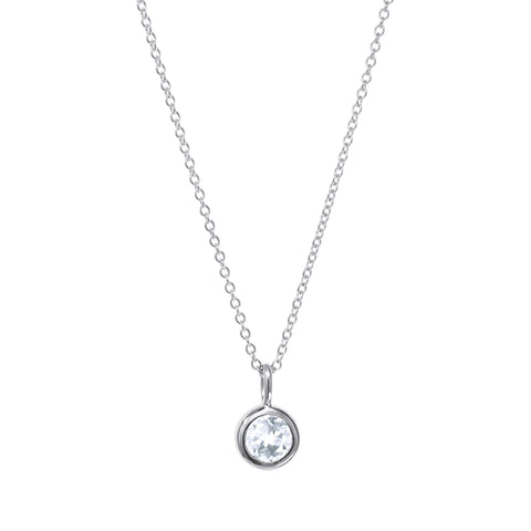 Image of April Birthstone Necklace - White Topaz