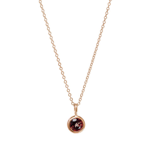 January Birthstone Necklace - Garnet