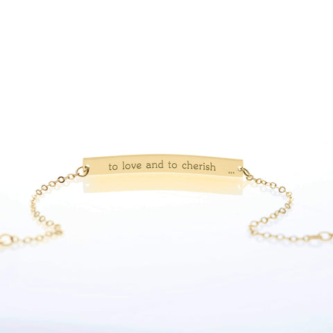 Image of Mother-Daughter Bar Bracelet Set