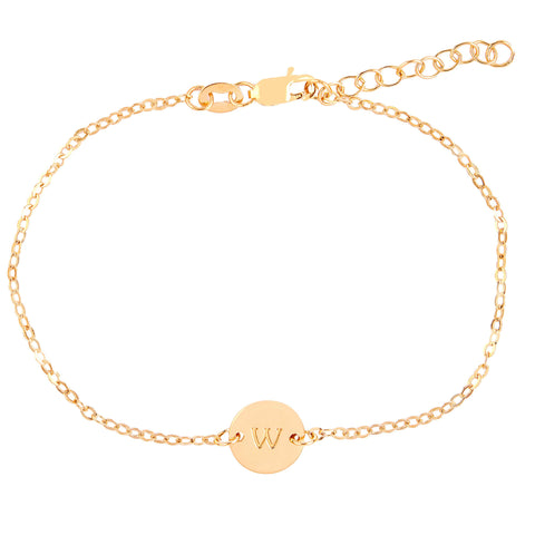Image of Gold Initial Chain Bracelet