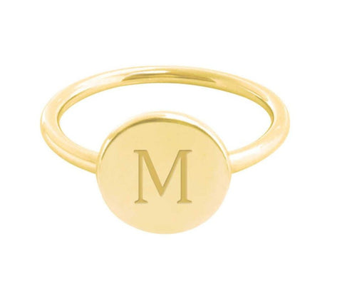Image of Gold Vermeil Initial Signet Ring