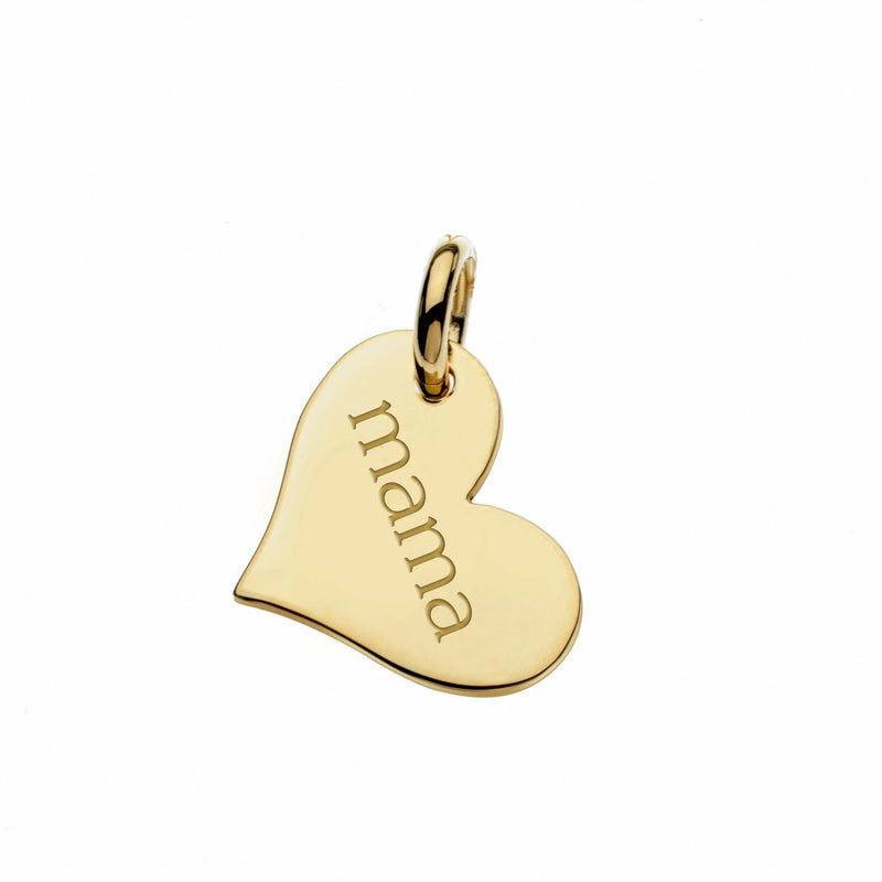Gold Heart Mama Tag