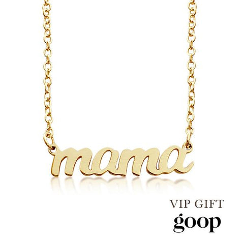 Image of Gold Script mama Nameplate Necklace