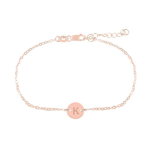 Image of 14k Gold Initial Chain Bracelet