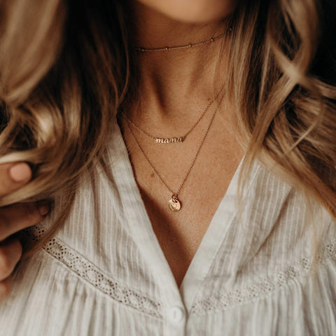 Image of Gold Perfectly Imperfect Heart Necklace