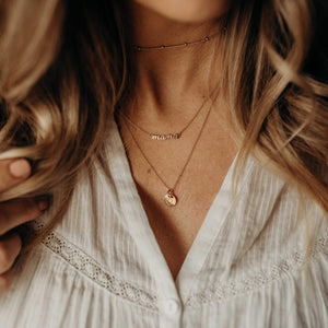 Gold Perfectly Imperfect Heart Necklace