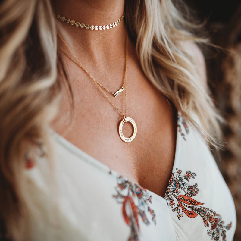 Gold Filled Coin Style Choker