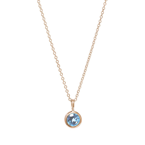 March Birthstone Necklace - Aquamarine