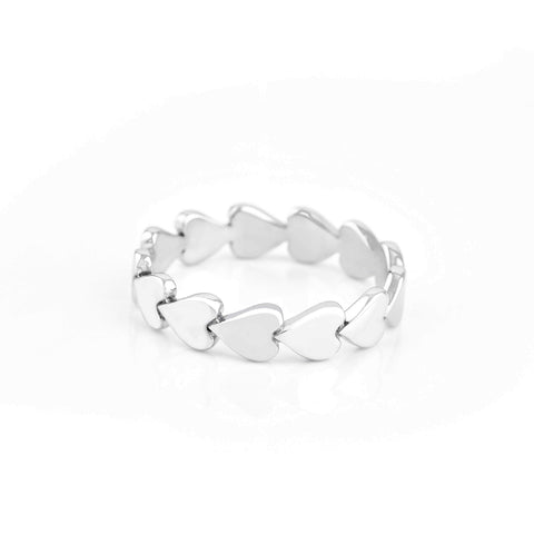 Image of Sterling Silver Perfectly Imperfect Heart Band