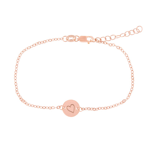 14k Gold Perfectly Imperfect Heart Chain Bracelet