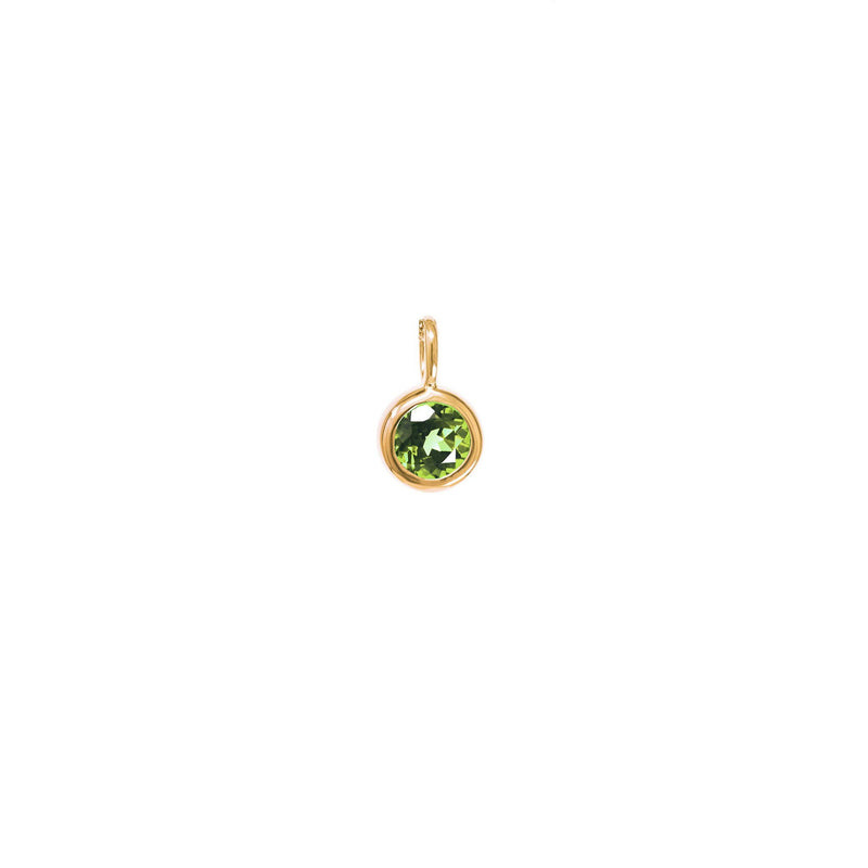 August Birthstone Charm - Peridot