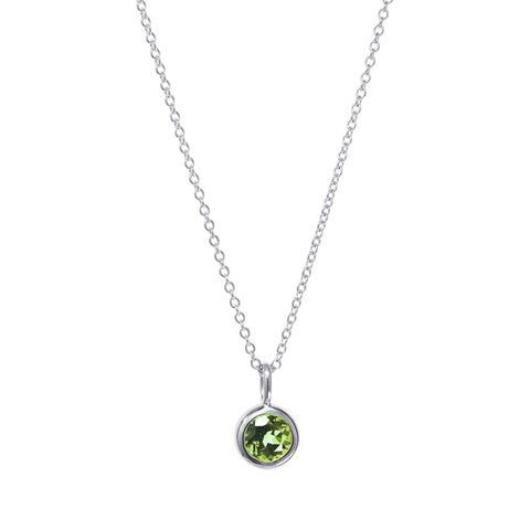 Image of August Birthstone Necklace - Peridot