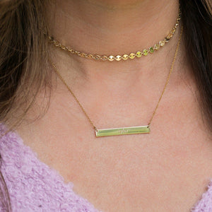 Sterling Silver Coin Style Choker - tinytags