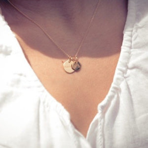 14k Gold Childhood Cancer Ribbon Charm Necklace