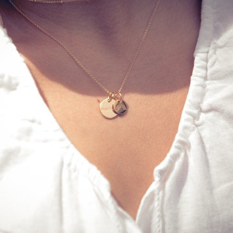 Image of 14k Gold Autism Charm Necklace