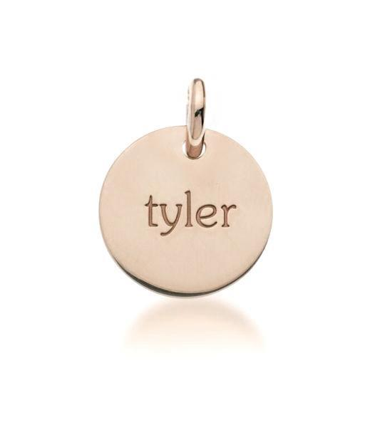 14k Gold Circle - tinytags