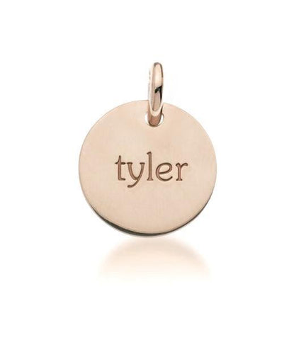 Image of 14k Gold Circle - tinytags