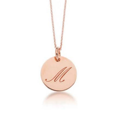 Image of 14k Yellow Gold Initial Script Necklace - tinytags