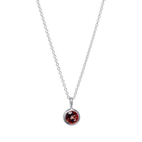 Image of July Birthstone Necklace - Ruby