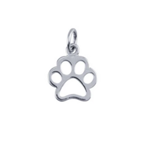 Sterling Silver Paw Charm - tinytags