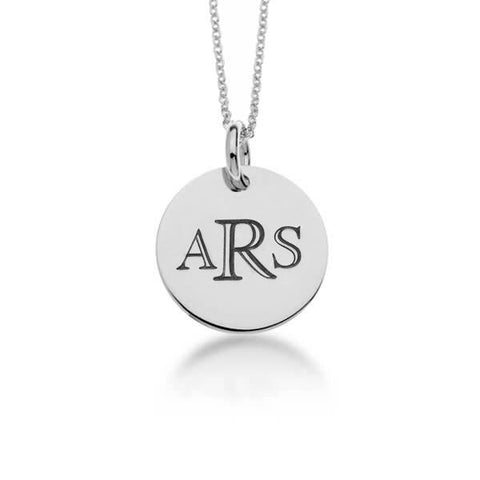 Sterling Silver Classic Monogram Circle Necklace