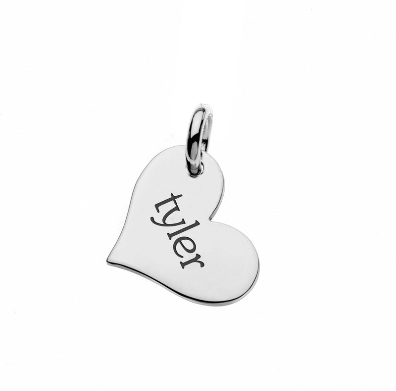 Sterling Silver Heart Tag