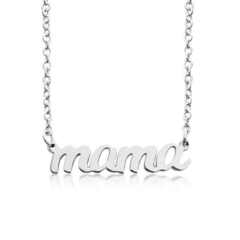 Image of 14K Gold mama Script Nameplate Necklace