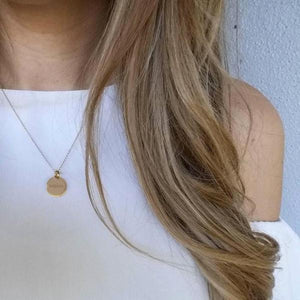 14k Gold Initial Necklace - tinytags