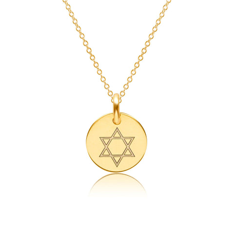 Image of 14k Gold Star Of David Necklace