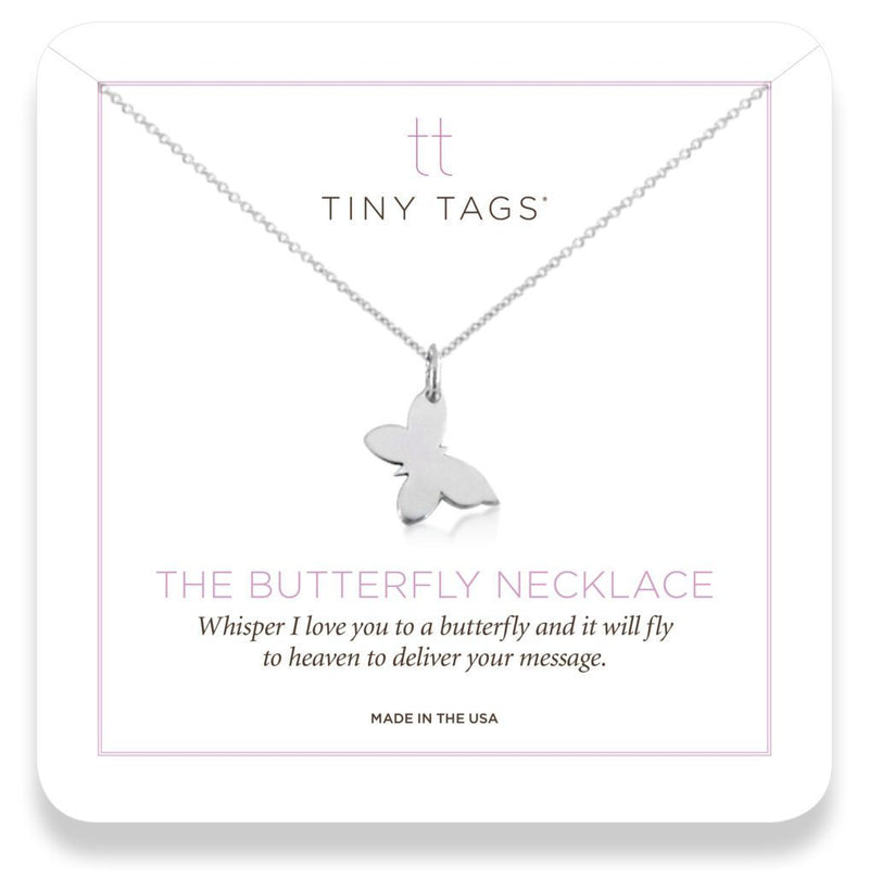 The Butterfly Necklace whisper 'i love you' - tinytags