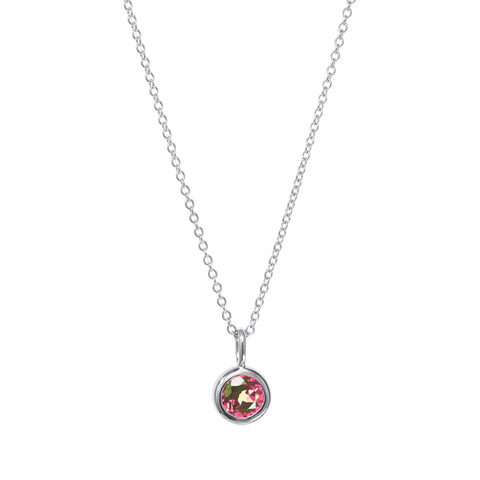 Image of October Birthstone Necklace - Pink Tourmaline