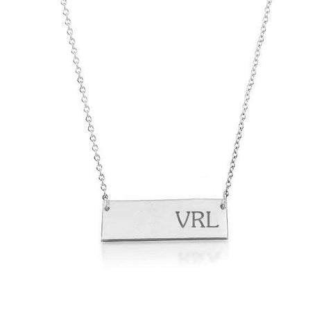 Image of 14k Gold Bar Monogram Necklace
