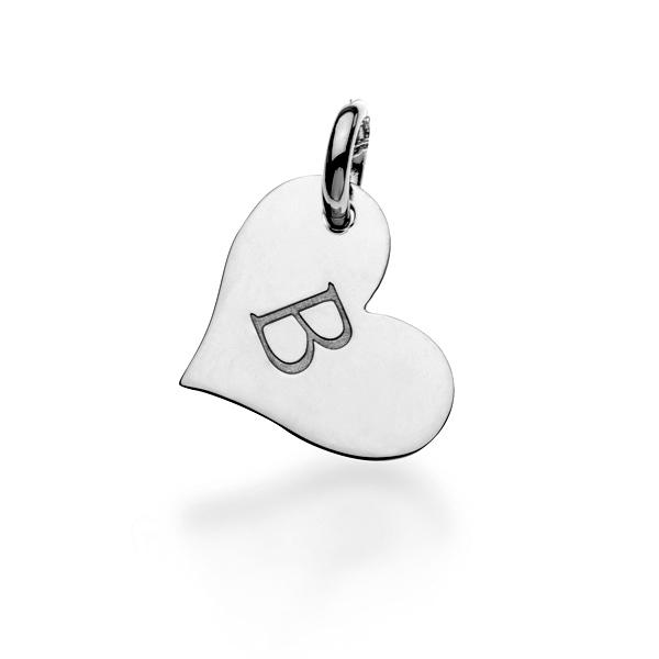 14k Gold Heart Charm - tinytags