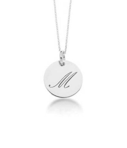 14k Yellow Gold Initial Script Necklace - tinytags