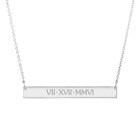 Image of 14k Gold Skinny Bar Necklace - Uppercase