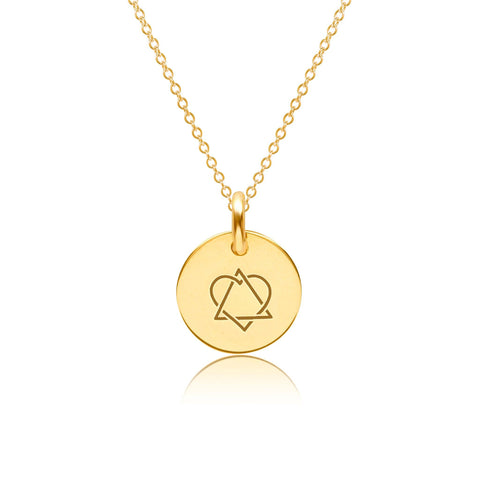 14k Gold Adoption Charm Necklace