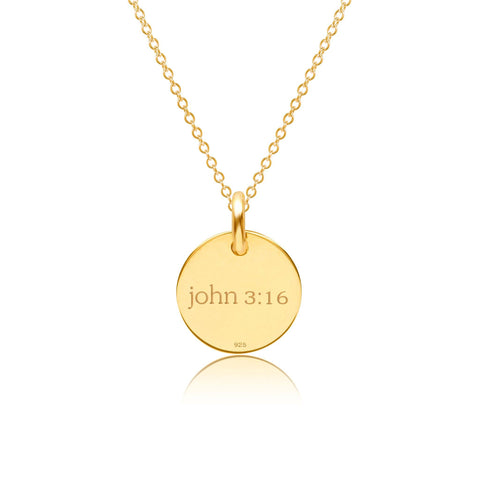 Image of 14k Gold Cross Necklace