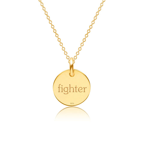 Image of Gold Breast Cancer Ribbon Necklace