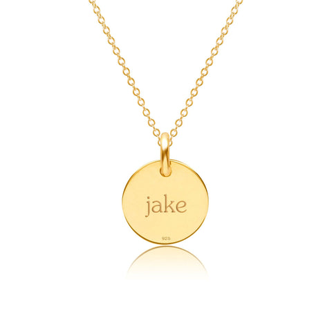 Image of Gold Autism Necklace