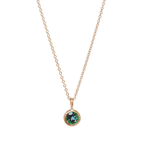May Birthstone Necklace - Emerald