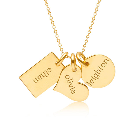 Image of 14k Gold Family Necklace
