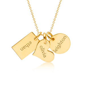 Gold Family Necklace