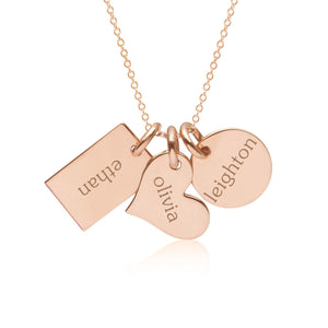 14k Gold Family Necklace