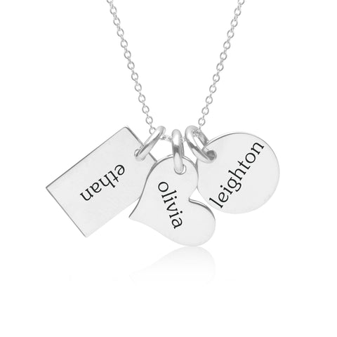 Image of Sterling Silver Family Necklace